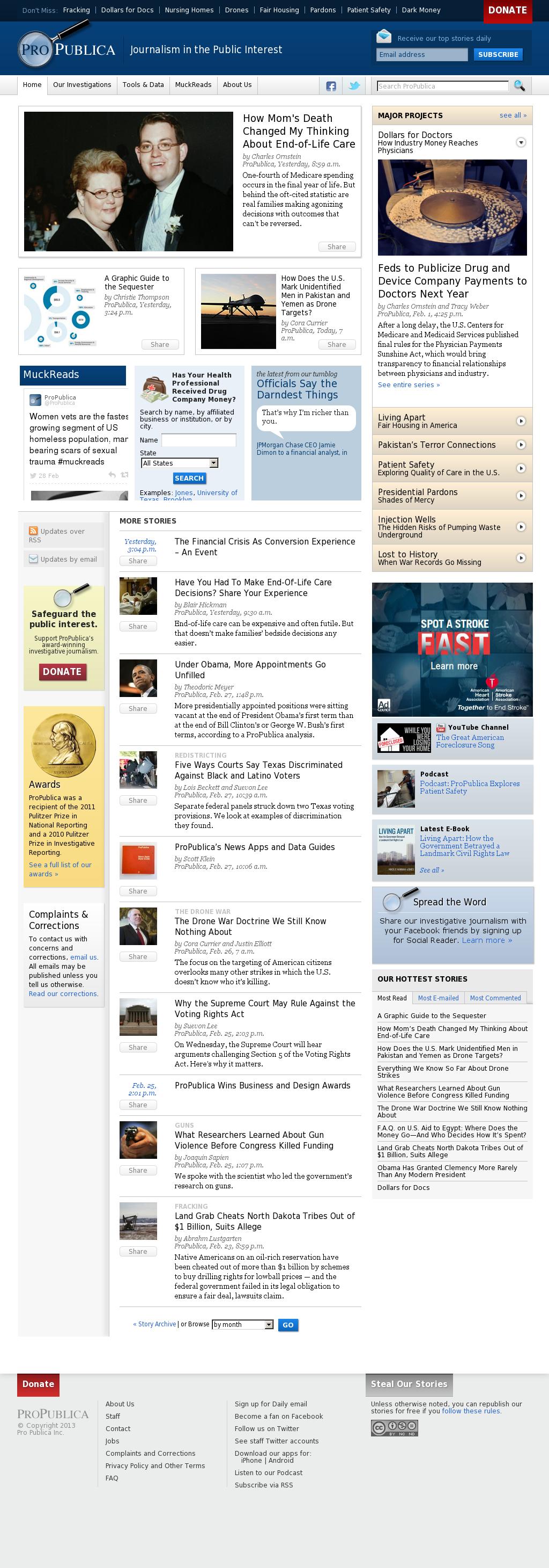 ProPublica at Saturday March 2, 2013, 2:18 a.m. UTC